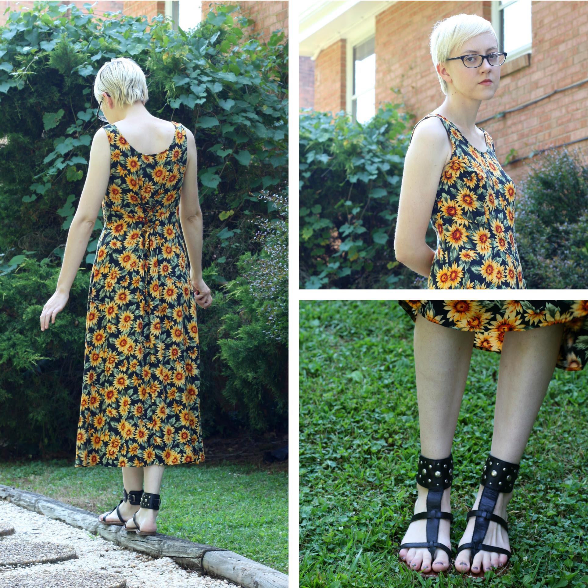 vintage sunflower dress stylewiseguide.com