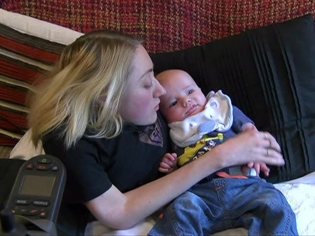 Marie-Ann Andrews decidiu na adolescência que queria ser mãe (Foto: BBC)