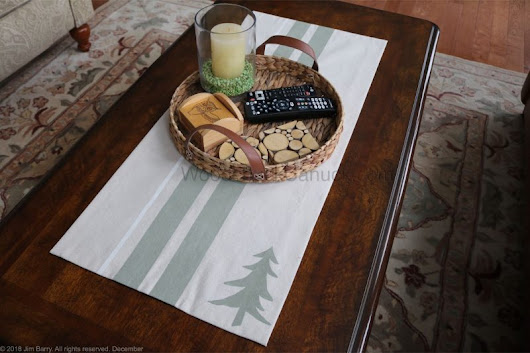 DIY Monogramed Placemats