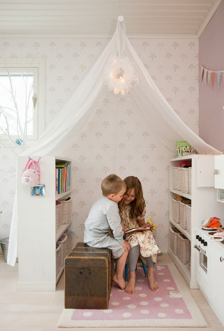 bookcases reading nook