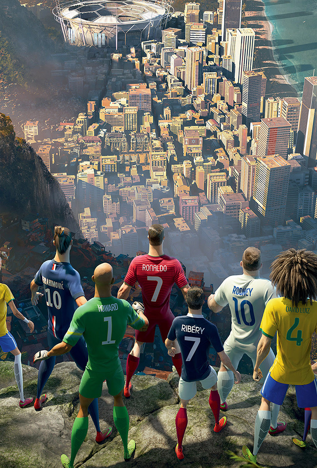 2014 World Cup wallpapers for iPhone and iPad