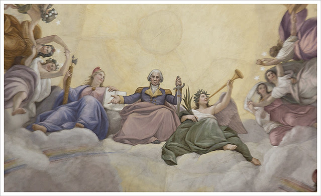 In The Capitol 5 (Apotheosis of Washington detail 2)