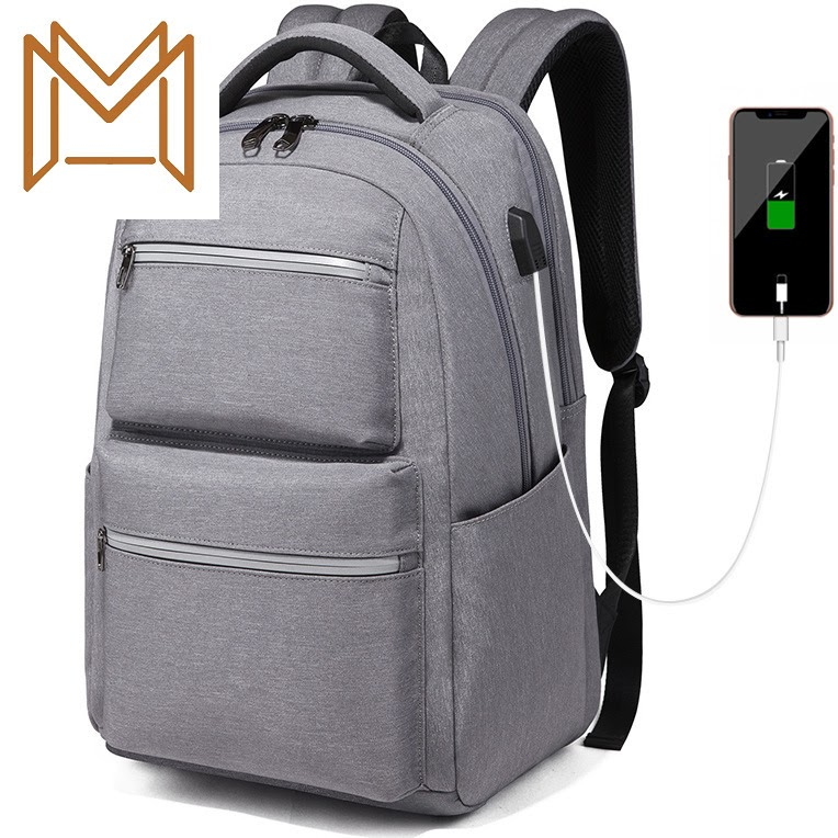 NEW Man Both Shoulders Package Male More Function Leisure Time Computer Package Concise College Student Usb Waterproof Backpack