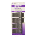 Conair Styling Essentials Bobby Pins, Silver - 90 bobby pins