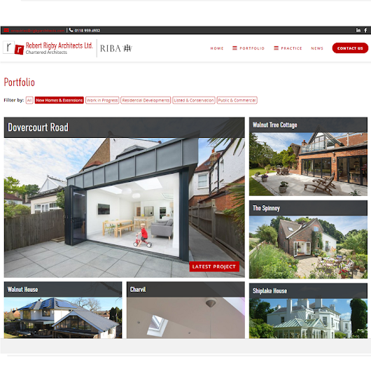 A new website for Robert Rigby Architects