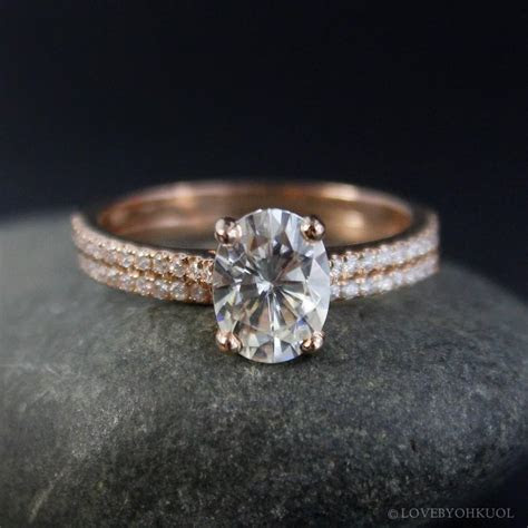 Oval Moissanite Solitaire Engagement Ring ? Forever