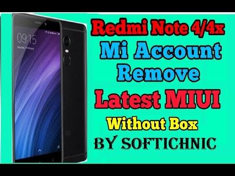 Redmi note 4 & note 4x mi account frp remove done file by softichnic