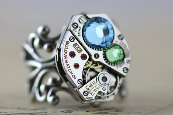 Steampunk Ring Handmade by Inspired by Elizabeth.