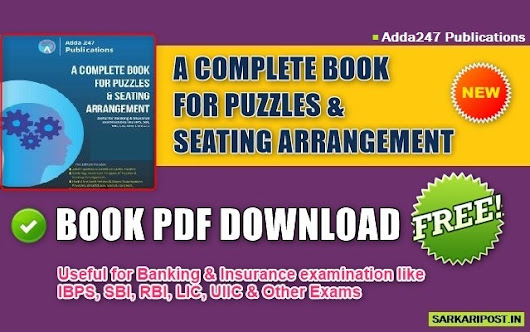 Download Puzzles and Seating Arrangement Book Pdf Free