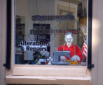 Tailors window in Old City Philadelphia