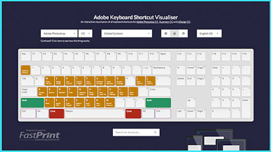 The Interactive Adobe Keyboard Shortcut Mapper | Textuts