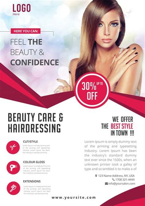 Beauty Care Free PSD Flyer Template   Free Flyer for