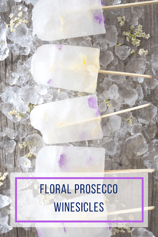 Edible Floral Prosecco Winesiciles | Bridal Shower Food