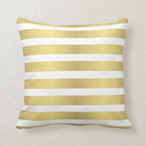 Gold stripes pillow