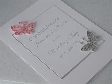 Paper Daisy Cards: Quilled butterfly wedding invitation