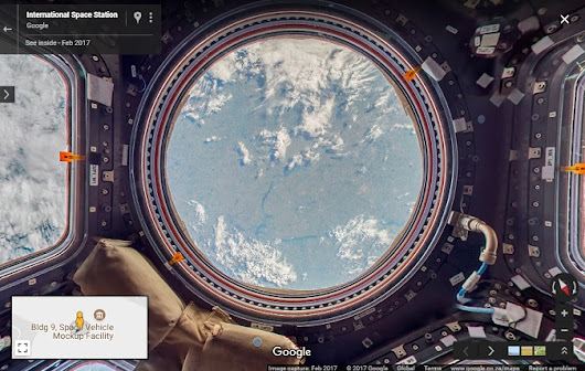 Google Street View goes to the International Space Station - Google Earth Blog