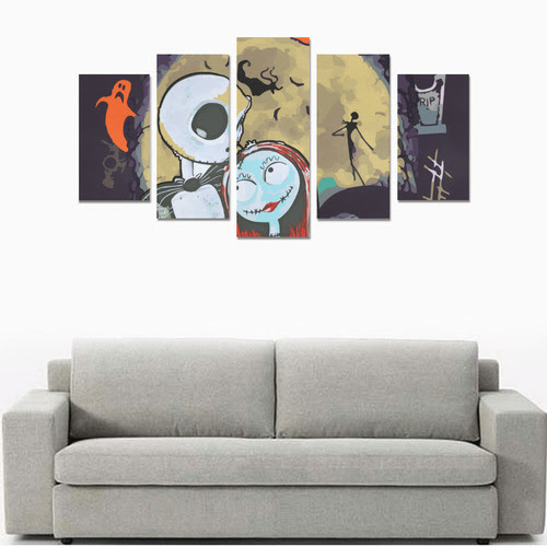 Jack And Sally Canvas Canvas Print Sets A No Frame Id D2301046