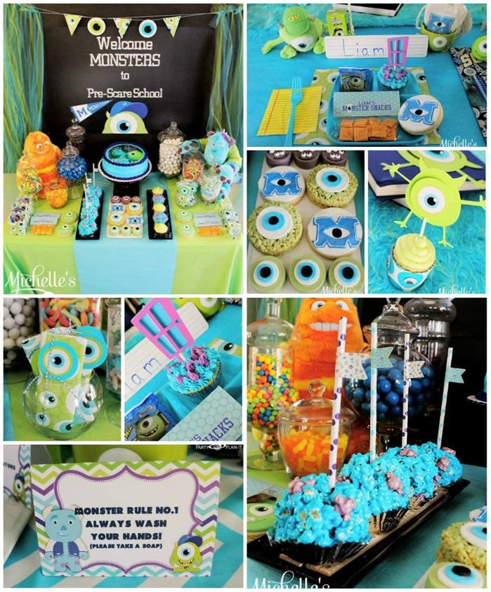Monster's University Back To School Party with REALLY GREAT IDEAS via Kara's Party Ideas | Kara'sPartyIdeas.com #Monster'sInc. #Disney #Partyideas #Supplies (1)