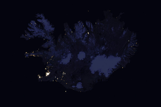 Iceland at Night : Image of the Day