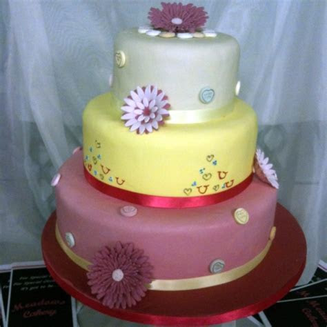 Birthday cakes and wedding cakes by Meadows Bakery Sheffield