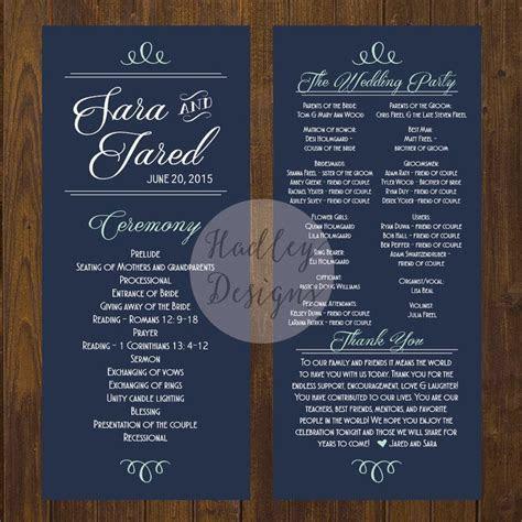 Wedding Programs, Wedding Ceremony Programs, Wedding
