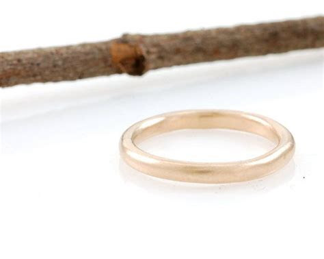 Simplicity Wedding Rings in Rose, Peach or Green Gold