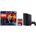 Sony - PlayStation 4 Pro 1TB Red Dead Redemption 2 Console Bundle - Jet Black