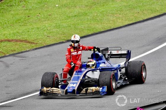GP da Malásia de 2017: alemão Pascal Wehrlein e alemão Sebastian Vettel