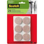 Scotch SP804-NA Felt Pads Round, Beige, 1.5 inch