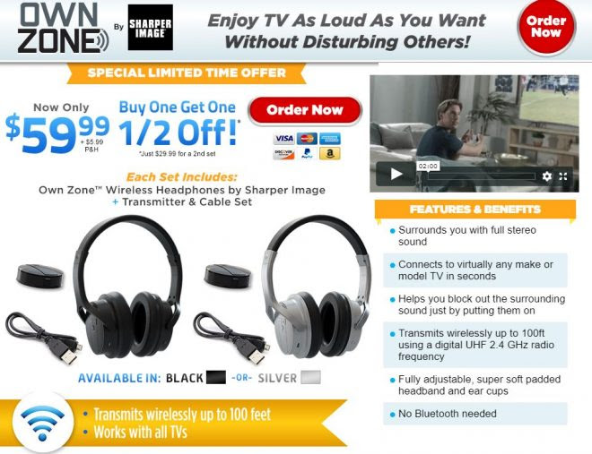 Own Zone Review Wireless Tv Headphones Freakin Reviews