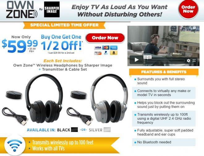 Own Zone Review Wireless Tv Headphones Freakin Reviews