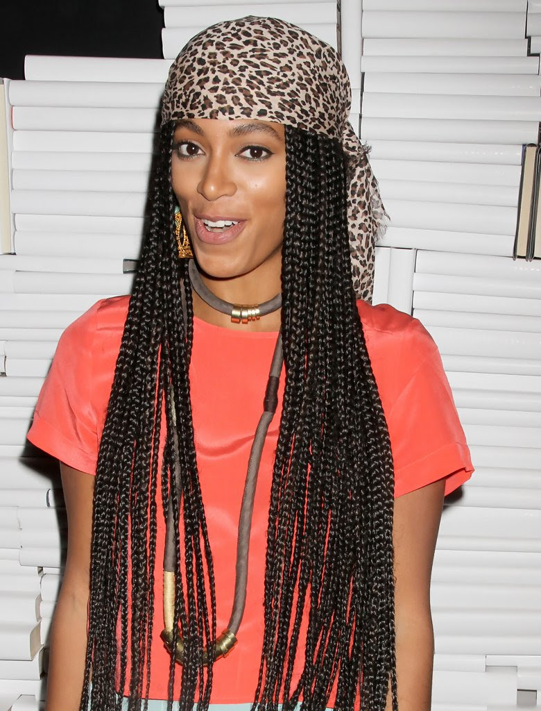 More Pics of Solange Knowles Long Braided Hairstyle (1 of ...