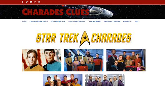 Star Trek Charades Clues and Ideas. Everything you need in one place!