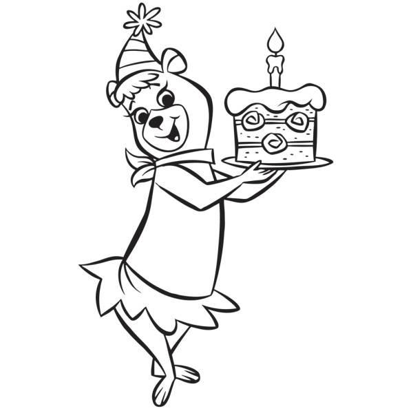 Disegno Di Cindy Buon Compleanno Da Colorare Per Bambini