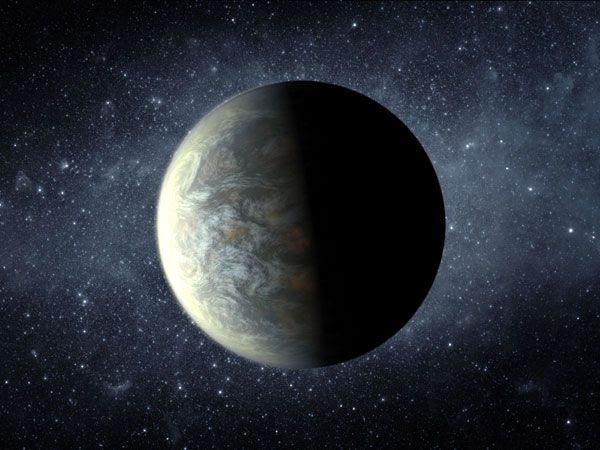 An artist's concept of the exoplanet Kepler-20f.