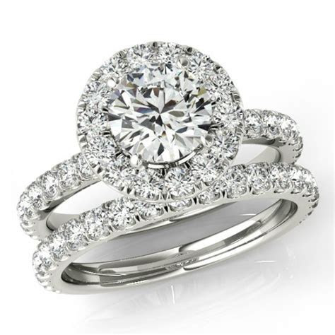 1.50 Ct Forever One Moissanite And Diamond Wedding Set