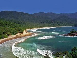 Praia de Castelhanos em Ilhabela (Foto: Divulgação / Fundação Florestal)
