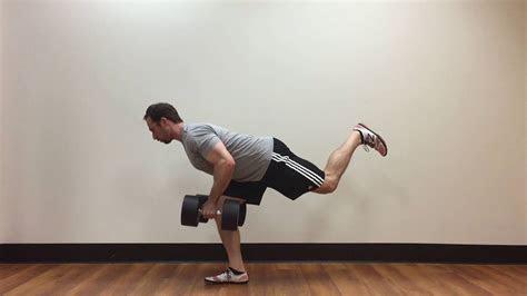 single leg bent  dumbbell row youtube