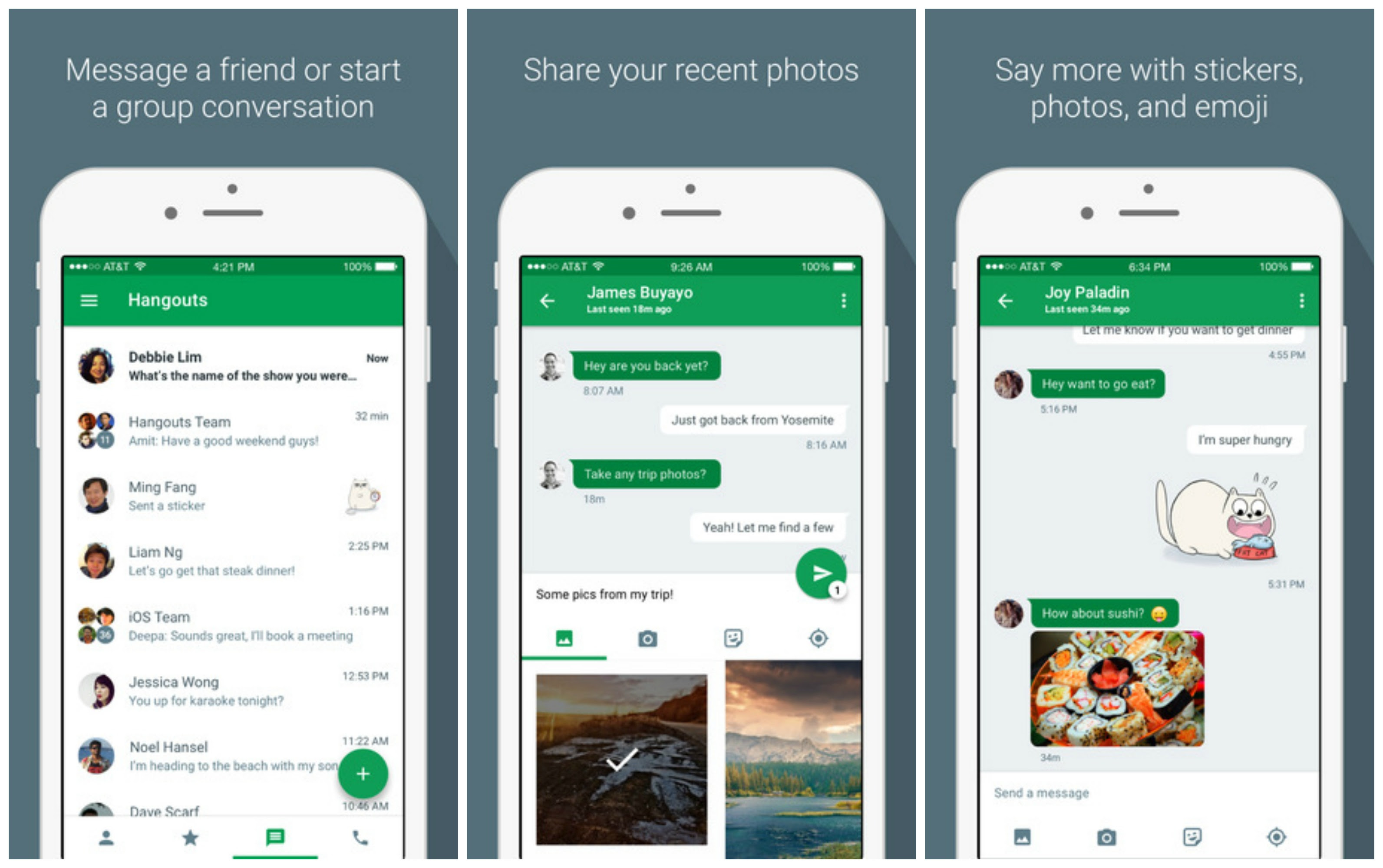 August 2017 Lg H870 G6 Ram 4gb Rom 64gb Garansi Resmi Hangouts 40 For Ios Brings New Ui Lets You Send Multiple Photos At