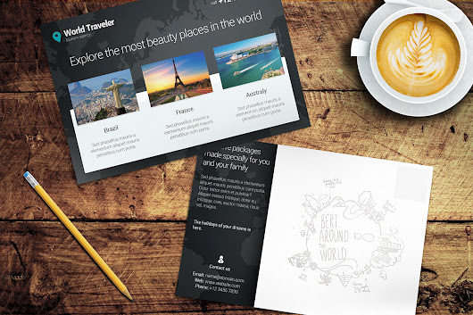 Post Card Mockup #6 ~ Product Mockups on Creative Market