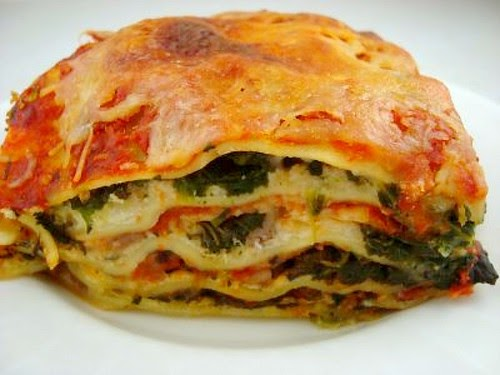 spinach & italian sausage lasagna - what's cookin, chicago