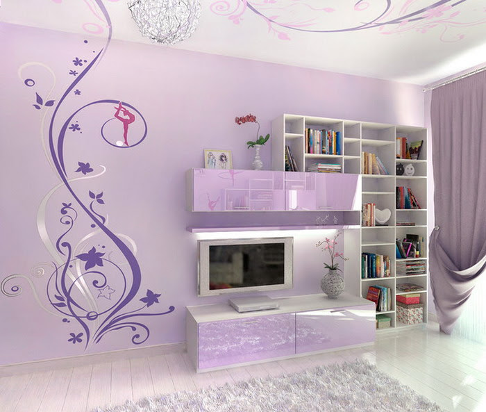 Bed Room Wall Design For Girls Bedroom Aesthetic