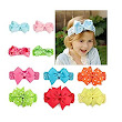 10PCS Flower Baby Girl Headbands, EveShine Kids Toddler Newborn Baby Hair Bows Hair Bands at Amazon Women's Clothing store: