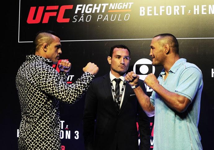 Encarada Vitor Belfort Dan Henderson UFC São Paulo media day (Foto: Marcos Ribolli)
