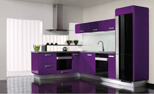 20 Stylish Kitchen Purple and Violet with Appliances Design Ideas | EVA Furniture