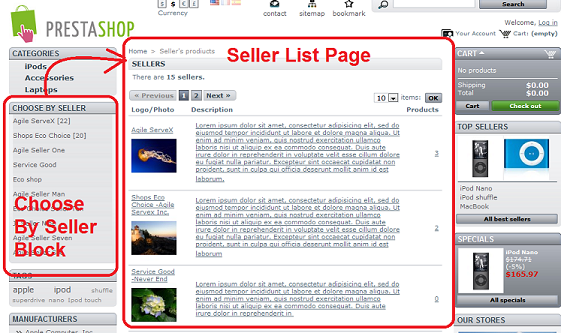 agile seller products product - top seller block - seller list page