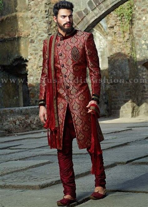 Mens wear, groom wedding dress, groom sherwani, designer