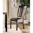 Furniture of America IDF-3325SC Bridgette Leatherette Espresso Finish Dining Chair - 2 Pack,