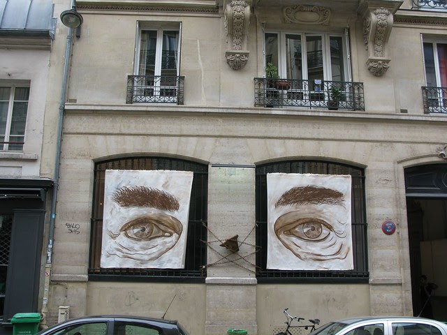 Gallery in Paris, streetside