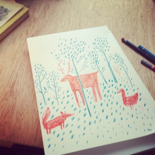 I need to draw a forest by la casa a pois